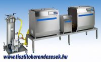 Ultrahangos mosósor kézi szűrőrendszerrel kiegészítve